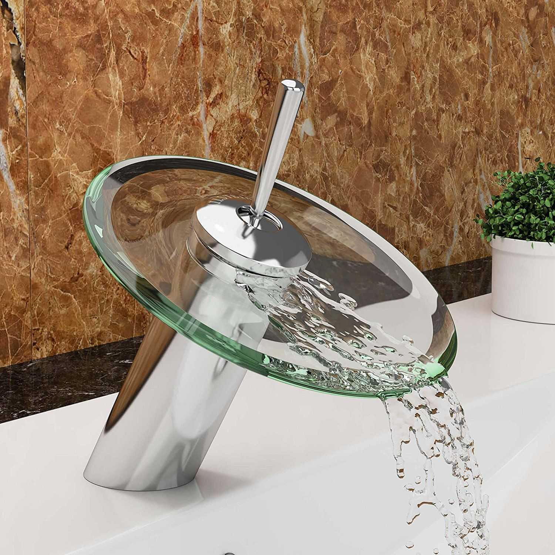 Vilstein C Waschtisch Armatur Einhebelmischer Einhand Wasserhahn Mit Wasserfall Effekt Armatur Fur Bad Badezimmer Waschbecken Verchromt Sink Decor Sweet Home
