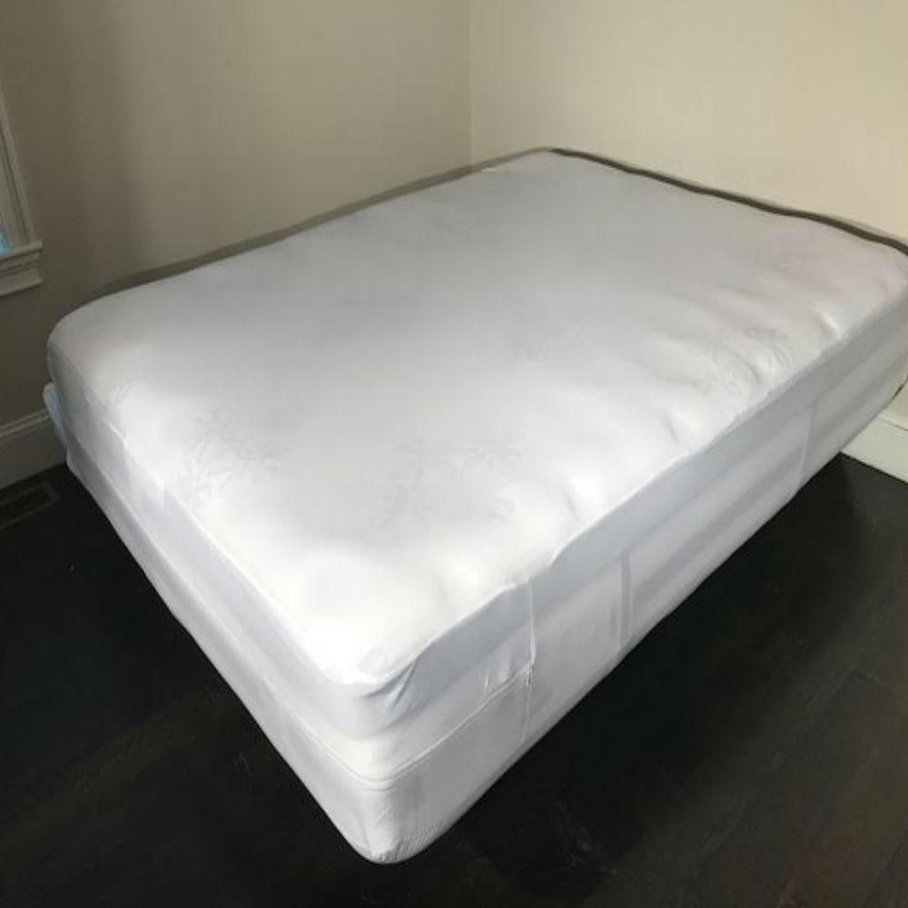 Hygea Natural Bed Bug Mattress Cover Or Box Spring Cover Non Woven Water Resistant Encasement In Crib White Mattress Box Spring Cover Mattress Encasement