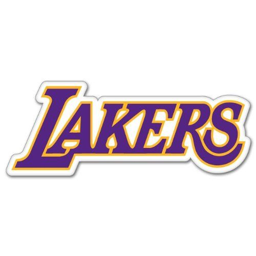 Los Angeles Lakers Nba Basketball Car Sticker 7 X 3 Sticker Is Printed On High Quality White Outdoor Grade Vyni Lakers Logo Los Angeles Lakers Word Mark Logo