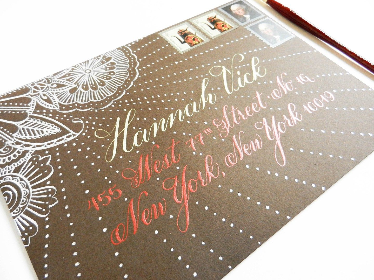 A guide to using metallic and gold calligraphy inks calligraphy