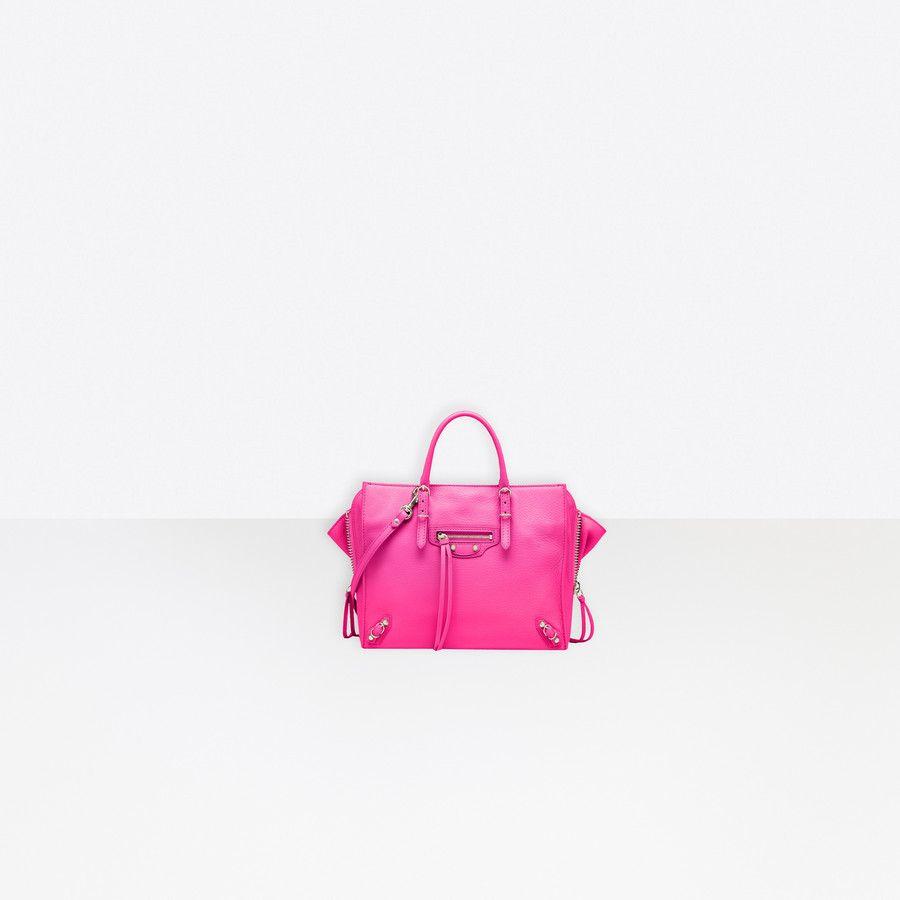 Papier Mini A4 Zip Around Rose Magenta Balenciaga Pink Balenciaga Women Handbags