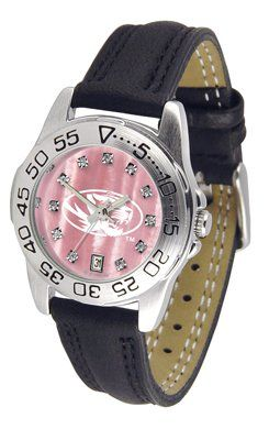 Missouri Tigers- University Of Sport Leather Band - Ladies Mother Of Pearl - Women's College Watches by Sports Memorabilia. $59.95. Makes a Great Gift!. Missouri Tigers- University Of Sport Leather Band - Ladies Mother Of Pearl