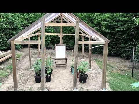Gewächshaus Selber Bauen Unser Beispiel Mit Folie Holz Und