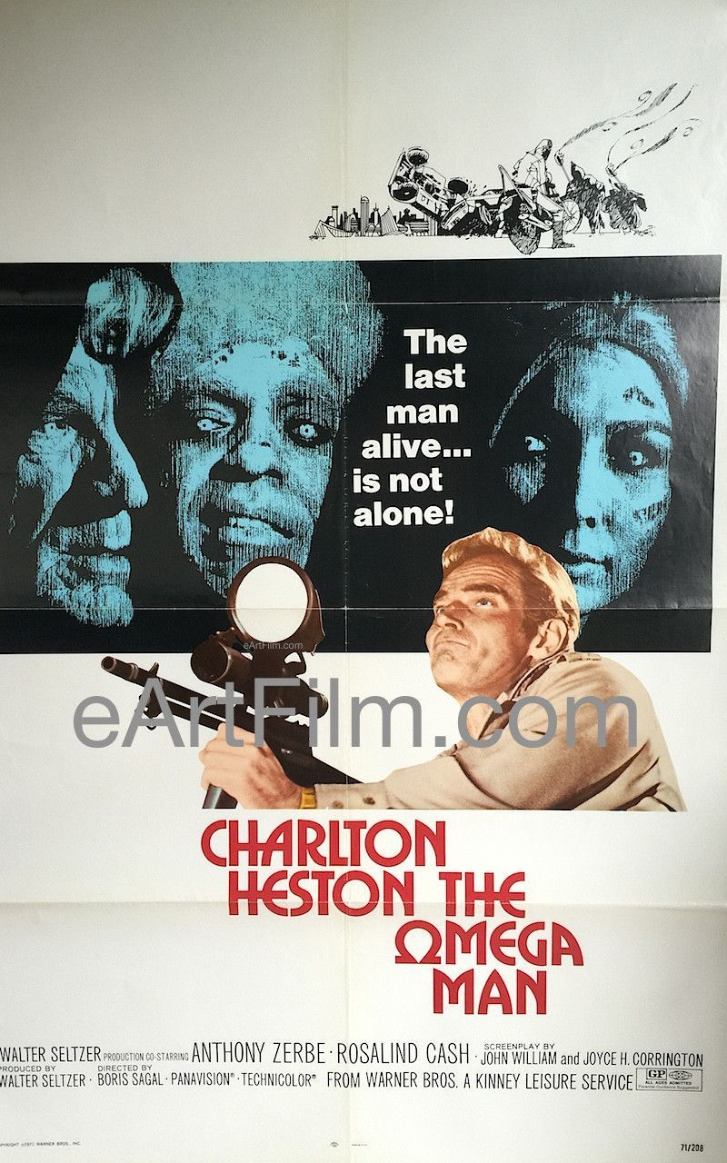 Omega Man, The 1971 27x41 One Sheet United States Old