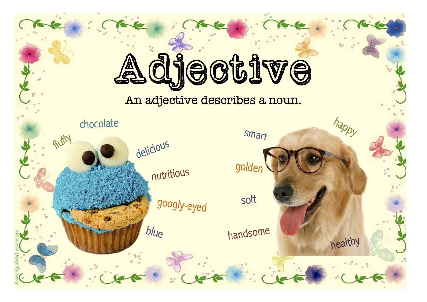 Adjectives Poster For Classroom