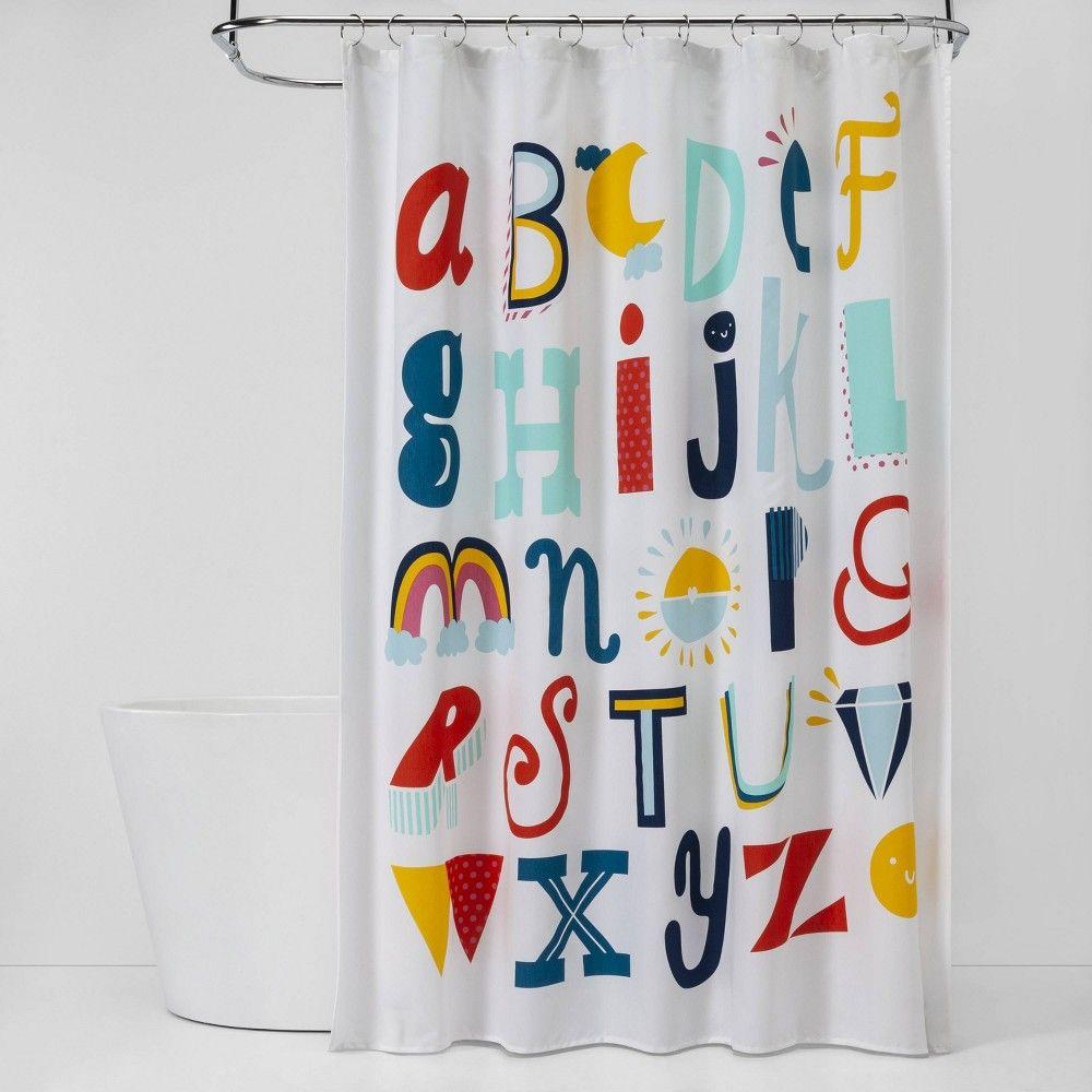 Abc S Shower Curtain Pillowfort In 2020 Kid Bathroom Decor
