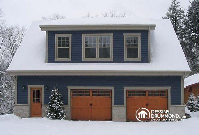 D tail du plan de maison unifamiliale w3935 d co maison for Plan de garage avec loft