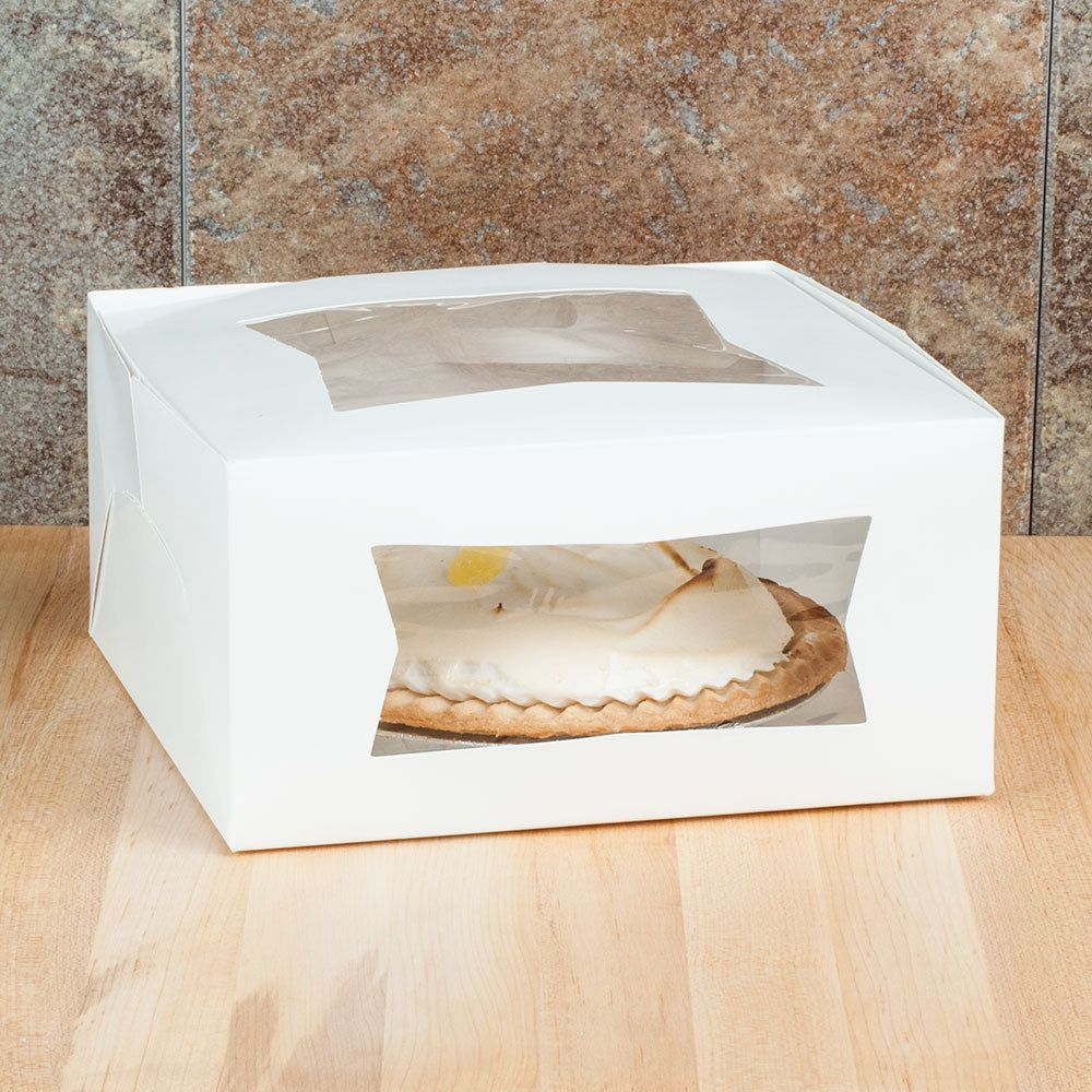 10 X 10 X 5 White Window Cake Bakery Box 10 Pack Bakery Box Bakery Cakes White Windows