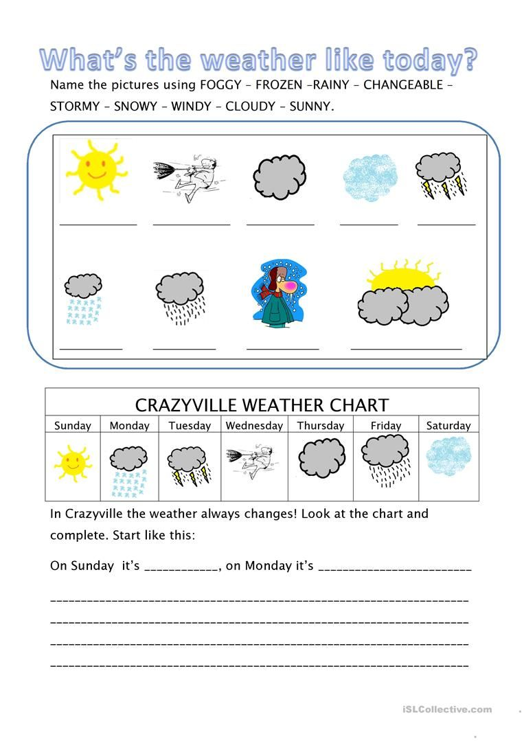 What S The Weather Like Today Weather Like Today Weather Worksheets English Worksheets For Kids