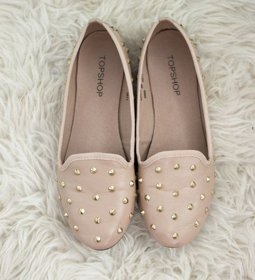 Nude rock studded flats kids shoes nm kids boutique