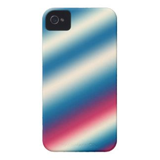 Blue White Stripes |: add text or image iPhone 4 Cases