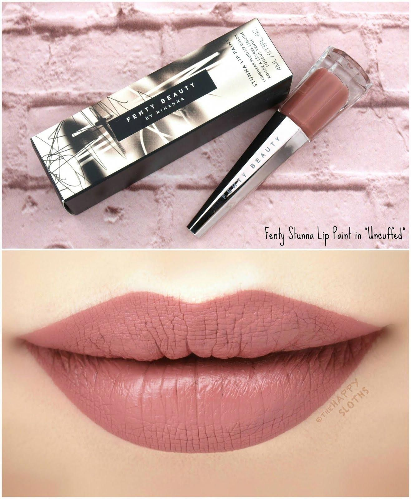 Fenty Beauty By Rihanna New Shades Stunna Lip Paint In Uncuffed Review And Swatches Makeupstyles Beauty Lipstick Beauty Makeup Lip Paint