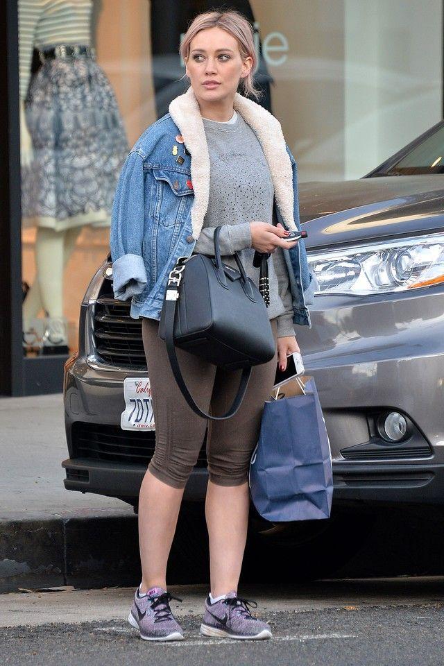 09caaaabeb Hilary Duff wearing Givenchy Antigona Satchel