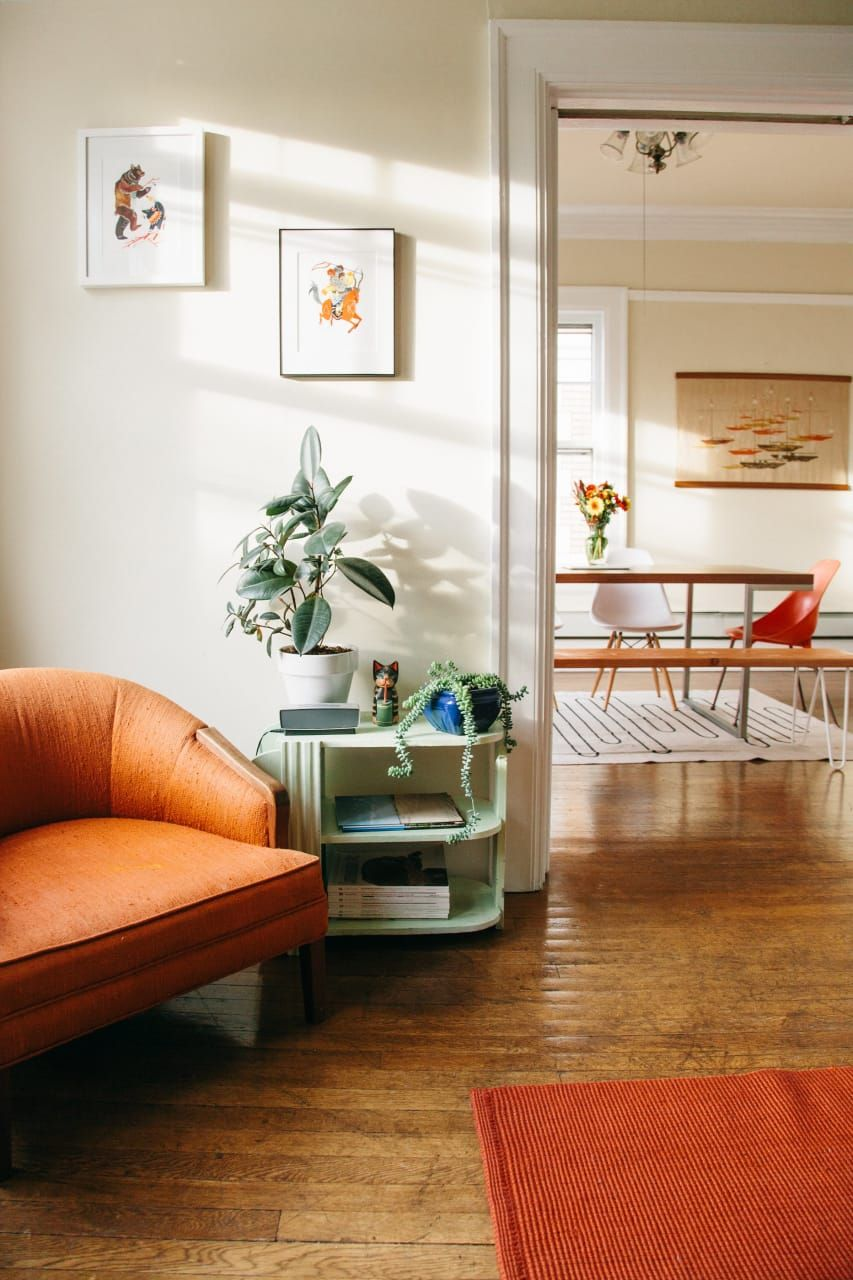 Small Living Room Apartment Therapy: Andrew & Becky's Bright, Eclectic Seattle Apartment In