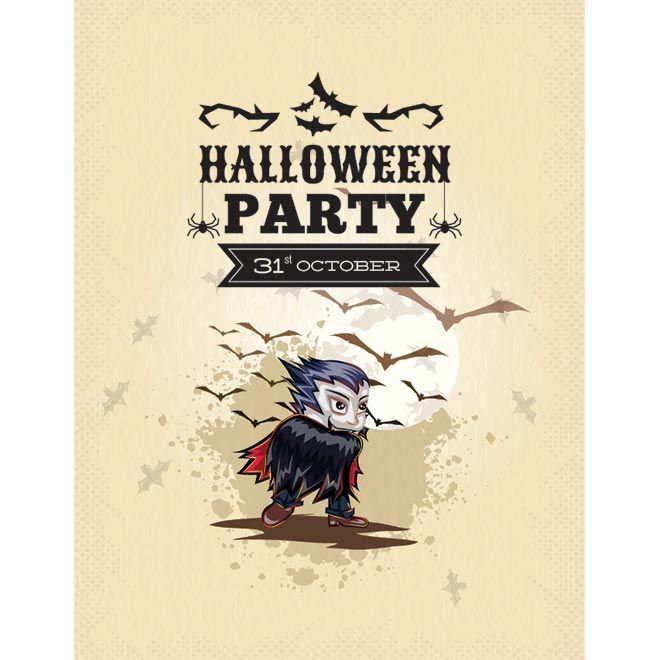 vector halloween party 31st october evil with bats on grunge background poster template illustration - Why Is Halloween On The 31st Of October