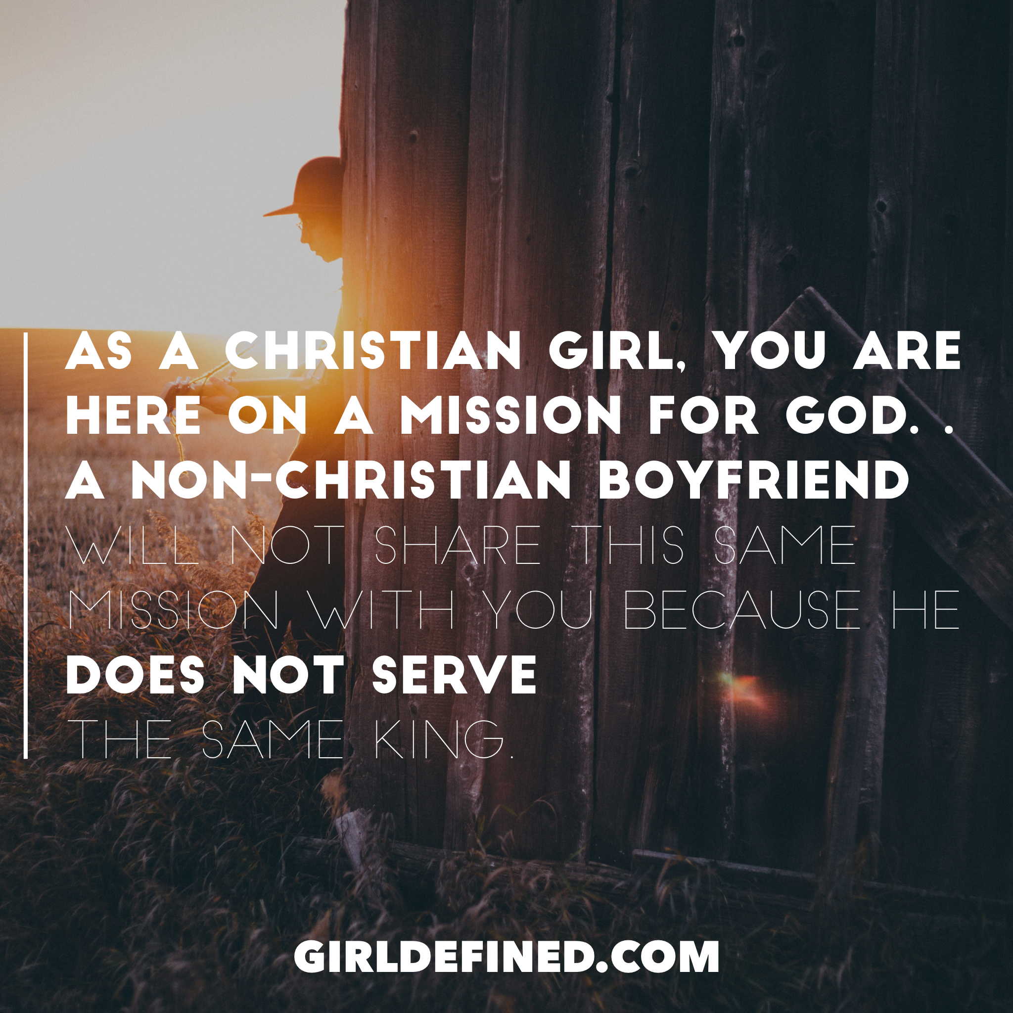 Dating a christian boyfriend