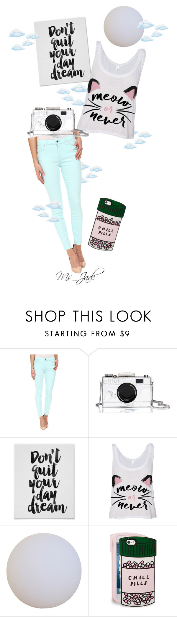 """Happy Daydreaming"" by ms-jade-1 ❤ liked on Polyvore featuring 7 For All Mankind, Kate Spade, ban.do, Spring, art and pastels"