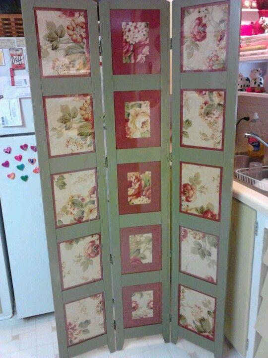 Picture Frame Turned Room Divider Folding Room Dividers Diy Picture Frames Condo Decorating