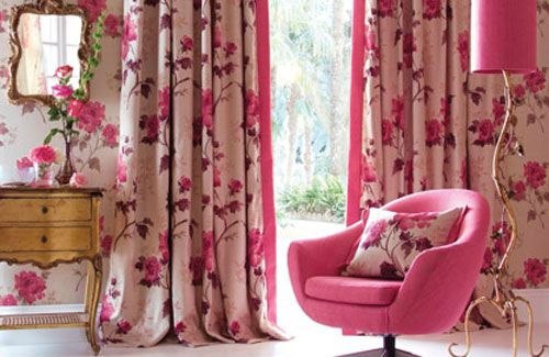 Floral Curtains In Living Room. Cool Living Room Beautiful Interior ...