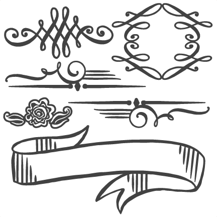 Flourishes Set SVG cutting file for scrapbooking flourish svg cut files cute cut files for cricut silhouette