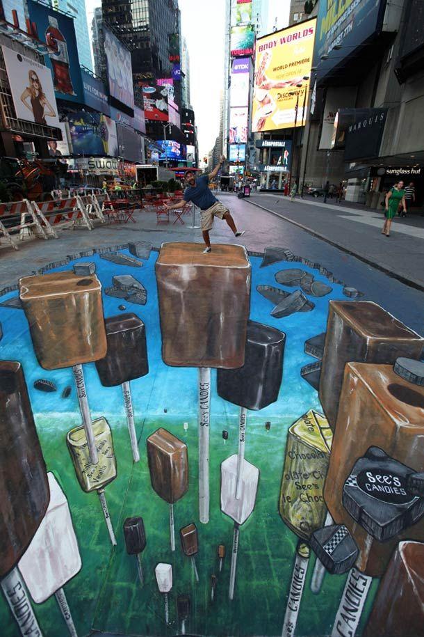 Une sélection des superbes créations de3D Joe and Max, entre anamorphose, trompe l'oeil et street Art 3D !Max Lowy étant décédé en 2010,Joe Hill con