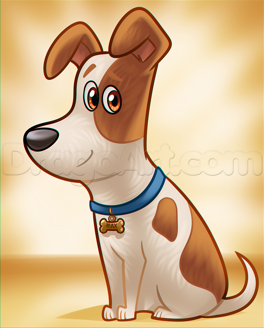 How To Draw Max From The Secret Life Of Pets Step By Step Movies