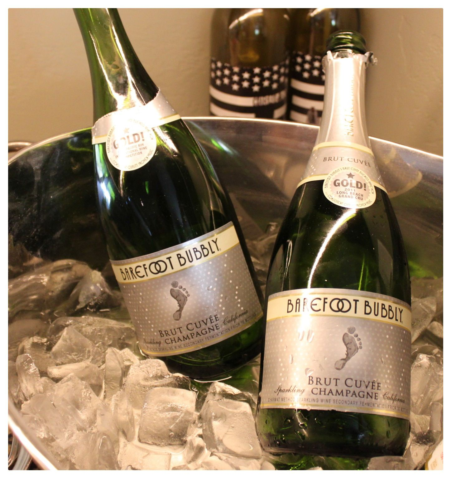 Barefoot Bubbly Champagne - Footprint Label Makes