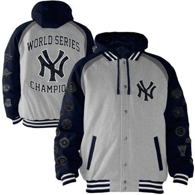 New York Yankees Rookie of the Year 27-Time World Series Champions Commemorative jacket - Ash/Navy Blue