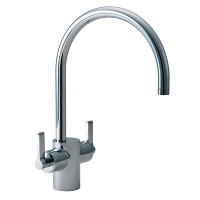Dual Control Kitchen Mixer Basin Brass Handles Sink Taps
