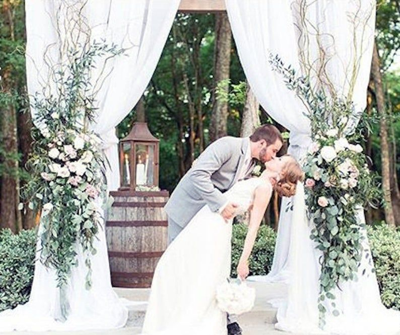 Cloth draped for arch arch draping fabric etsy wedding