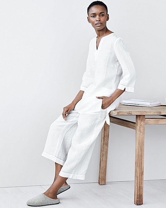 Eileen Fisher Linen Tunic Pajamas  d1c834bba