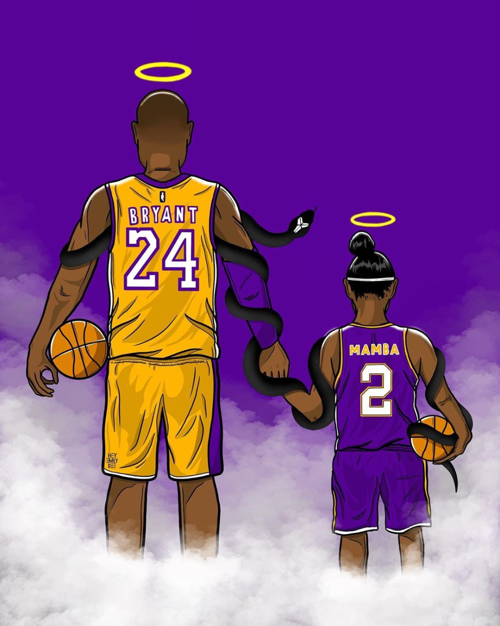 Artists Around The World Immortalize Kobe And Gianna Bryant Kobe Bryant Pictures Kobe Bryant Wallpaper Kobe Bryant Poster