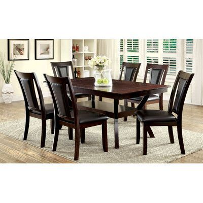 Darby Home Co Ferraro 7 Piece Dining Set Dining Room Sets Dining Set Traditional Dining Room Chairs
