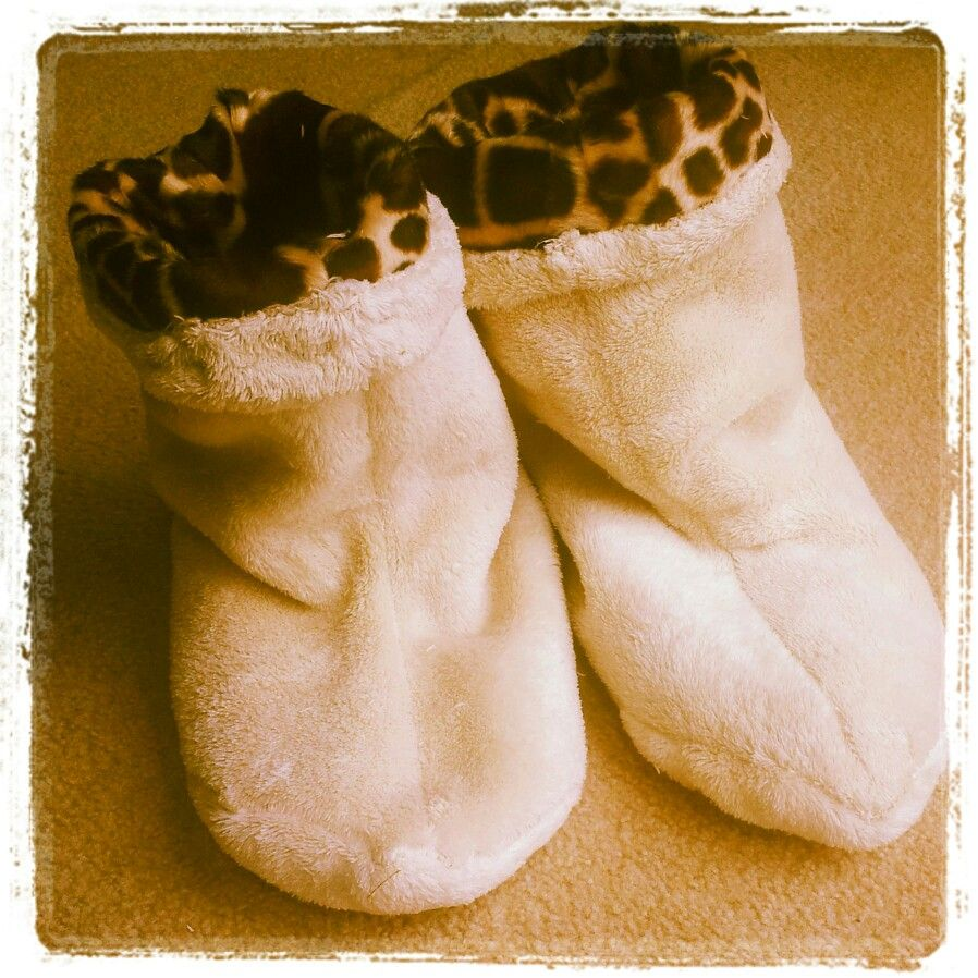 Adult Reversible Fleece Slipper Booties Sewing And