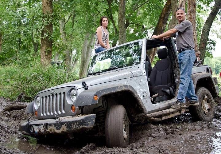I got the Jeep a little stuck