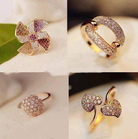 Diamond Wedding Finger Rings Designs Pics 2014