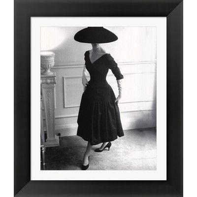 Evive designs dressed in black by sir edward hulton and getty images framed photographic print
