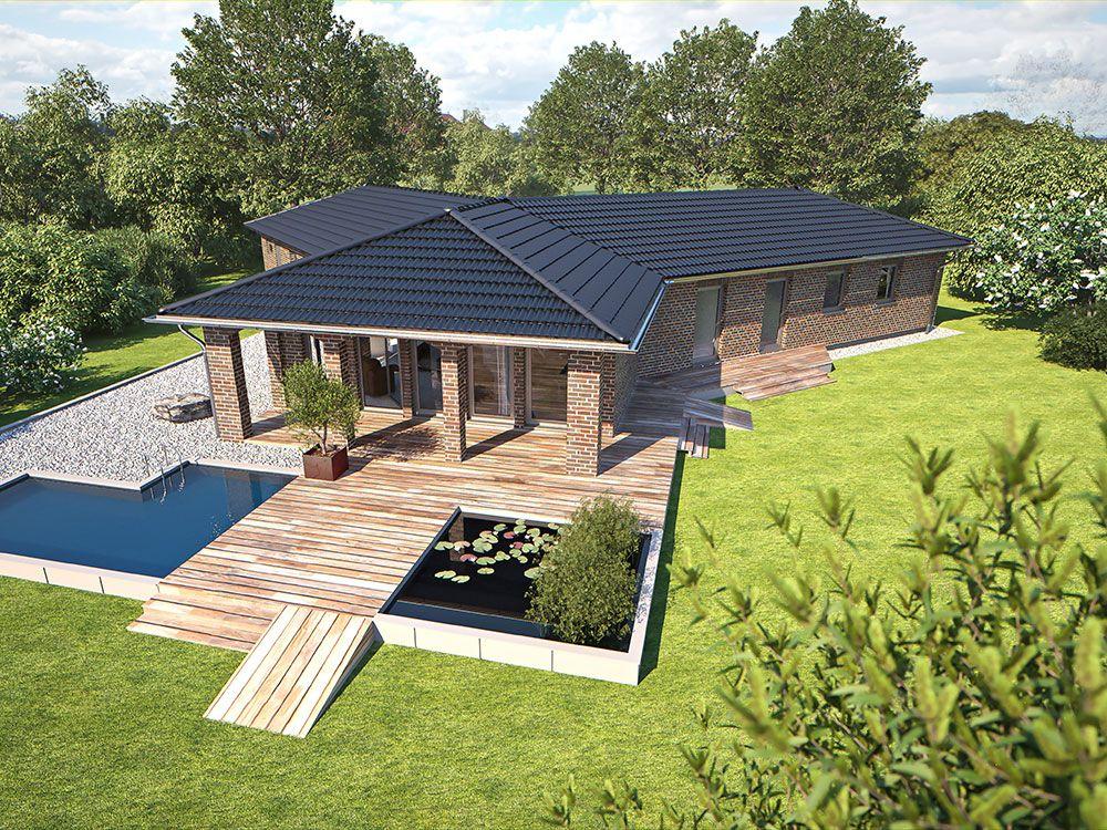 hanlo klinkerhaus top star 212 gartenansicht zahlreiche wohnideen im norddeutschen flair. Black Bedroom Furniture Sets. Home Design Ideas