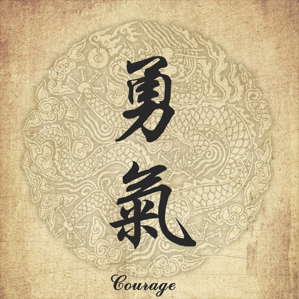 Chinese character tattoo--Courage | Tats | Pinterest | Chinese ...