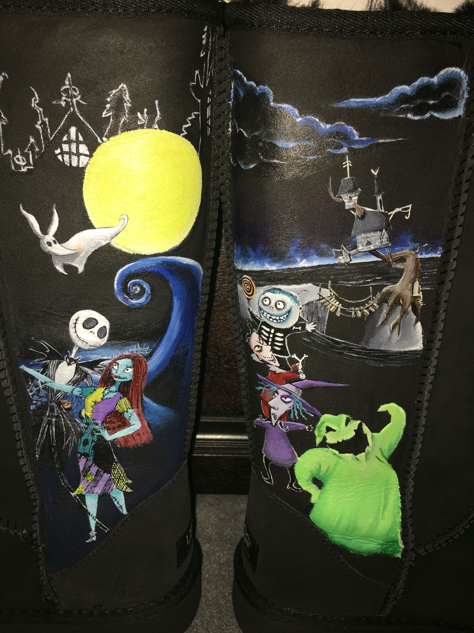 Custom Adult UGG boots inspired by The Nightmare Before Christmas ...