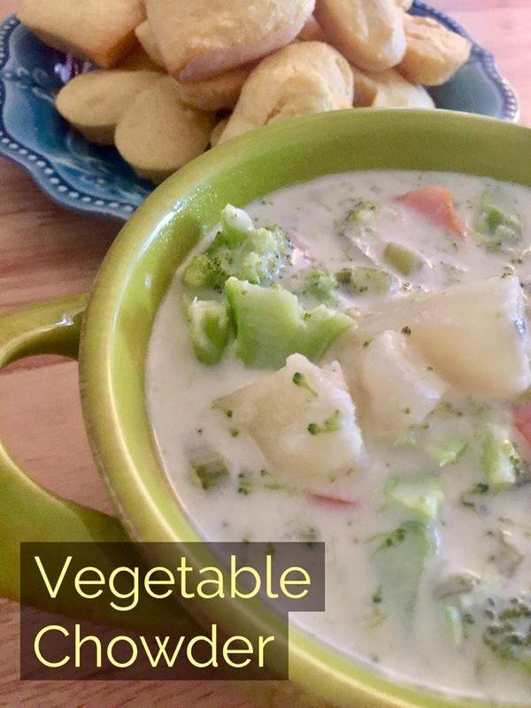 Recipe: Vegetable Chowder http://www.twohensandtheirchicks.com/recipe-vegetable-chowder.html