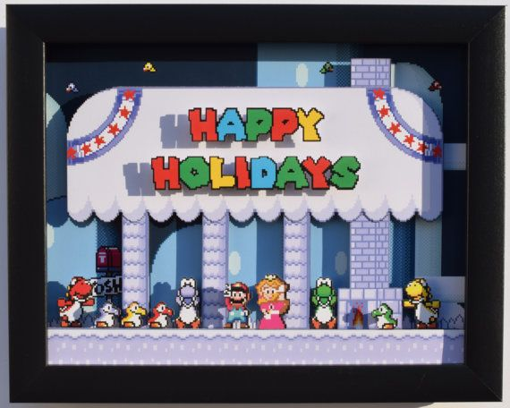 Super Mario World Christmas.Limited Edition Super Mario World Christmas By
