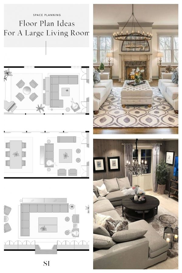 5 Furniture Layout Ideas For A Large Living Room With Floor Plans Livingroom Bigli Living Room Furniture Layout Furniture Layout Large Living Room Furniture #planning #a #living #room #furniture #layout