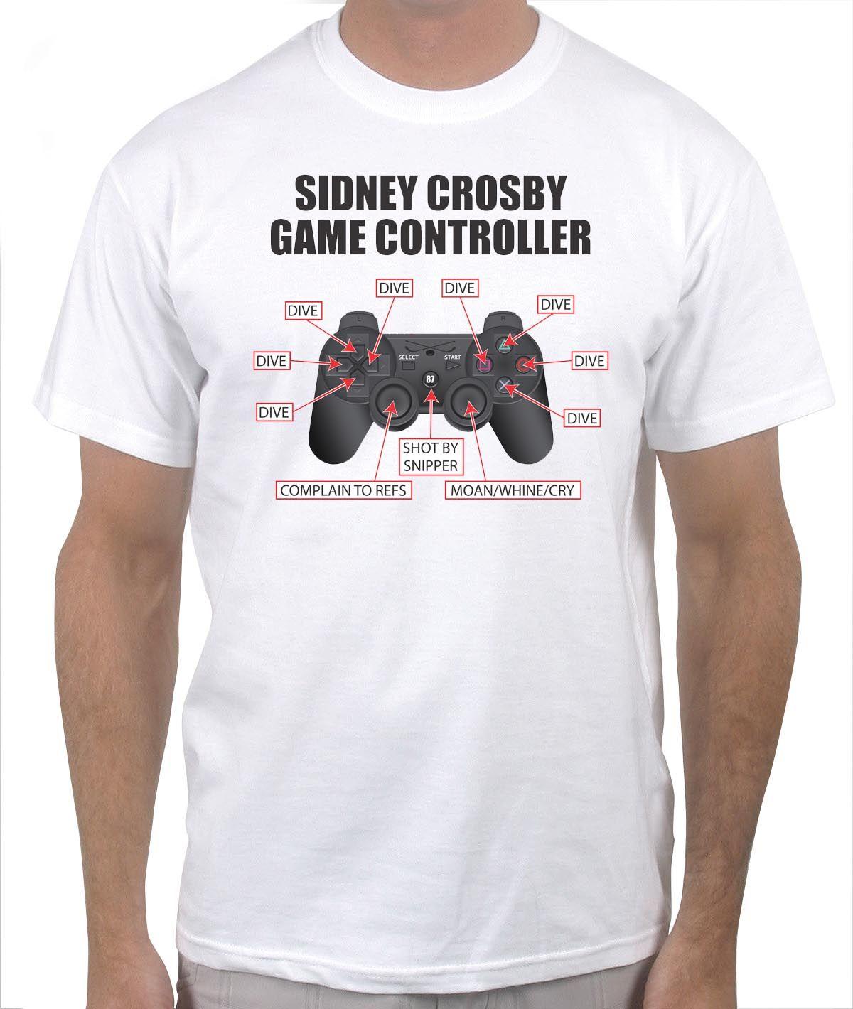 f2169a0cab Sidney Crosby Game Controller   Funny Hockey T-Shirts   Sidney ...