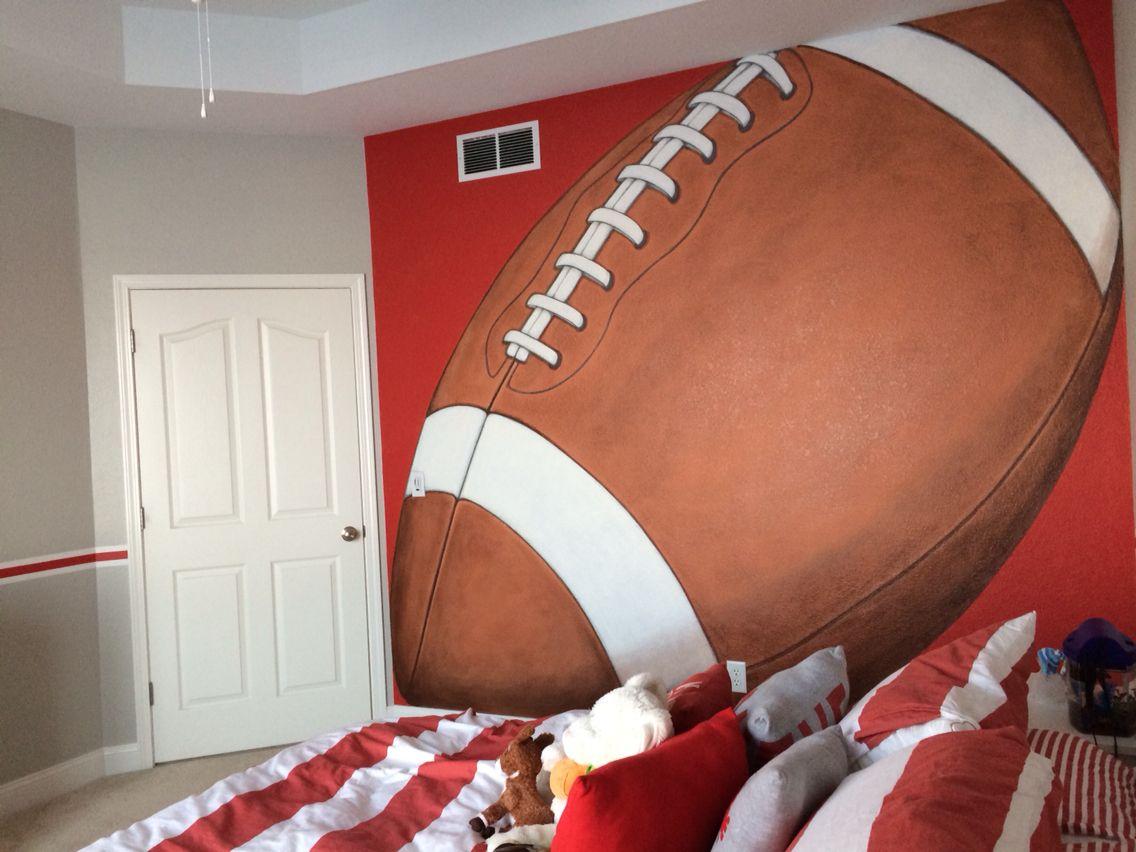 Football mural bean bag chair mural home decor