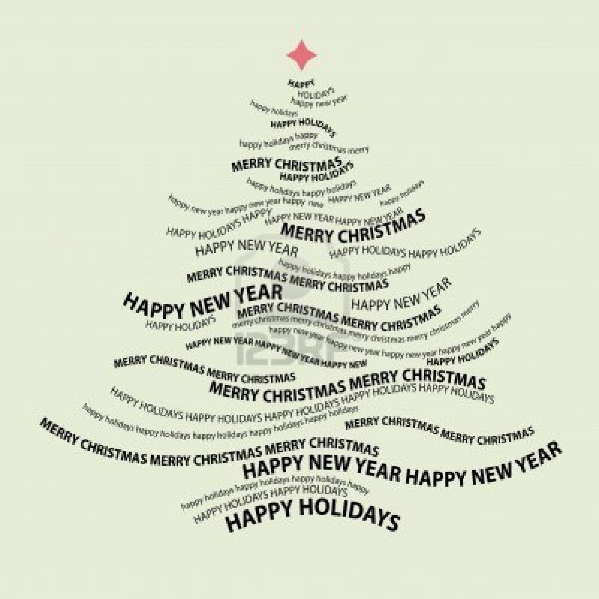Christmas Tree Shape From Words Typographic Composition Vector Christmas Typography Tree Shapes Christmas Vectors