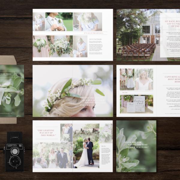 Studio Welcome Packet Laurel Wedding Photography Marketing Magazine Template