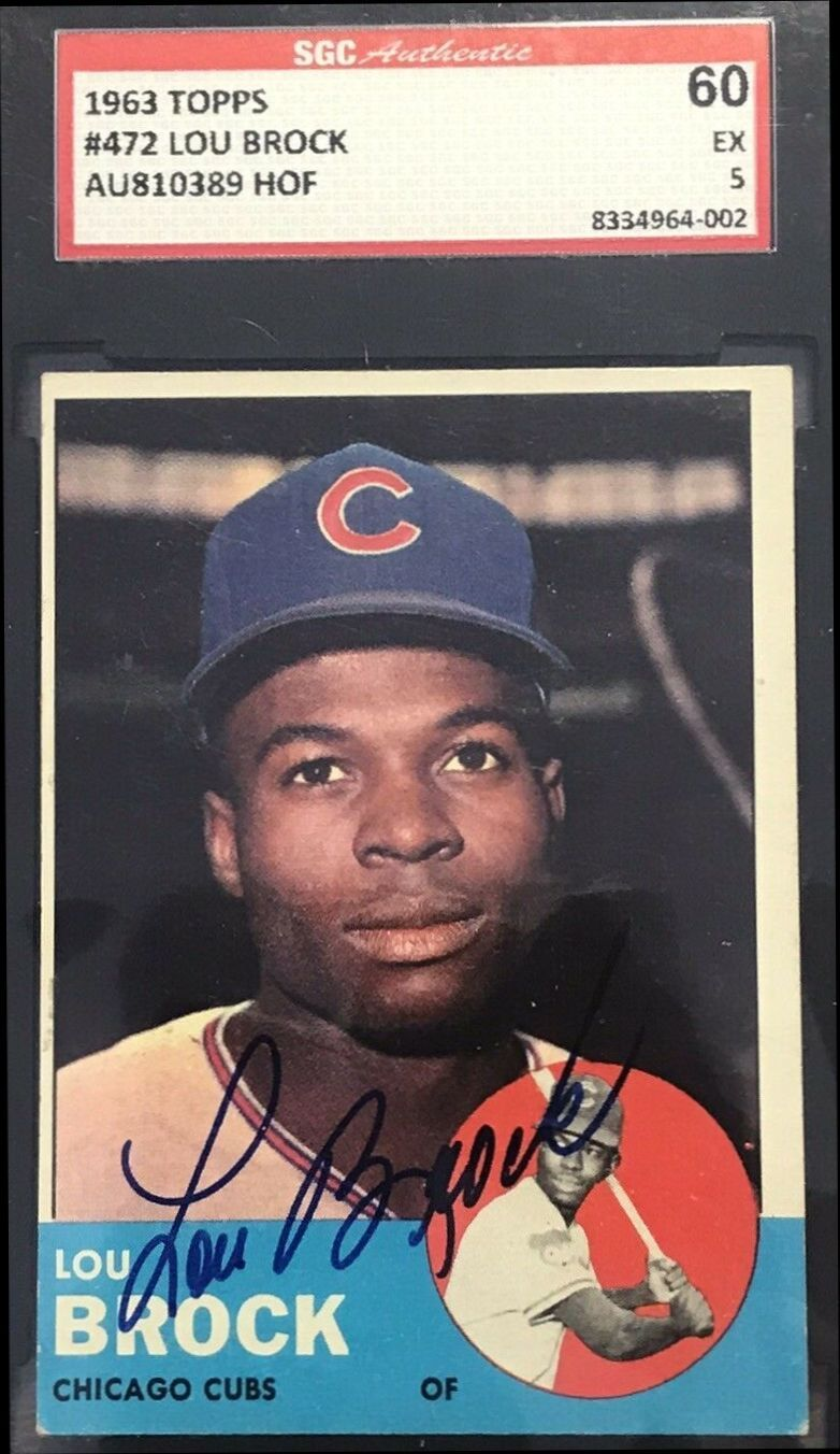 1963 Topps Lou Brock autograph in 2020 Baseball cards