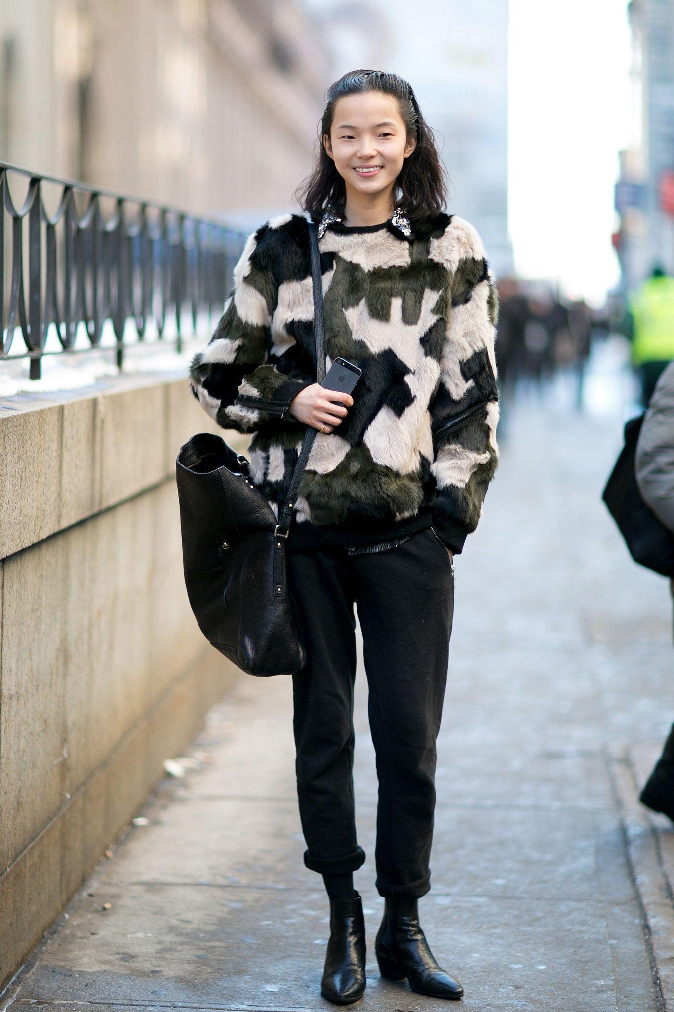 Model street style at New York Fashion Week #nyfw
