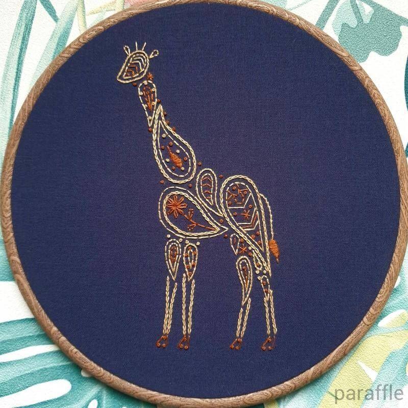 Photo of Giraffe Embroidery Pattern